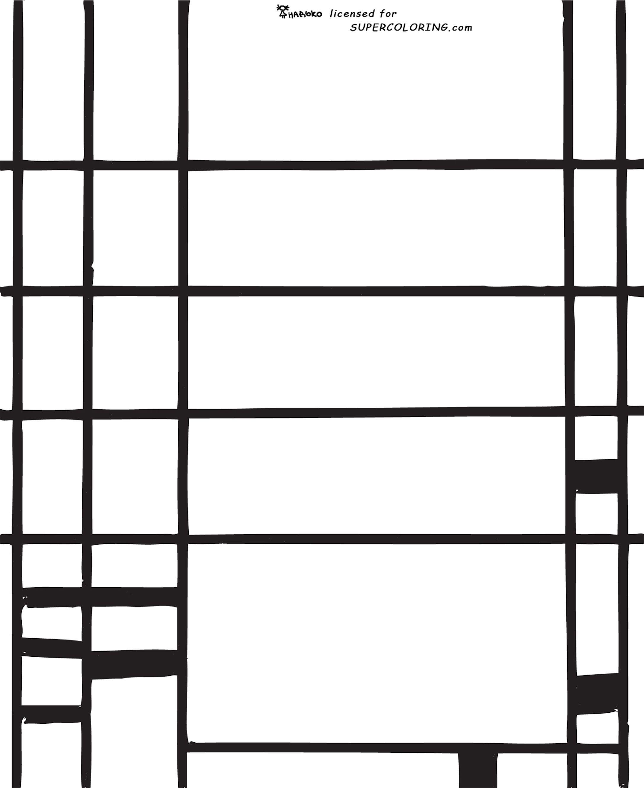 Mondrian Coloring Page