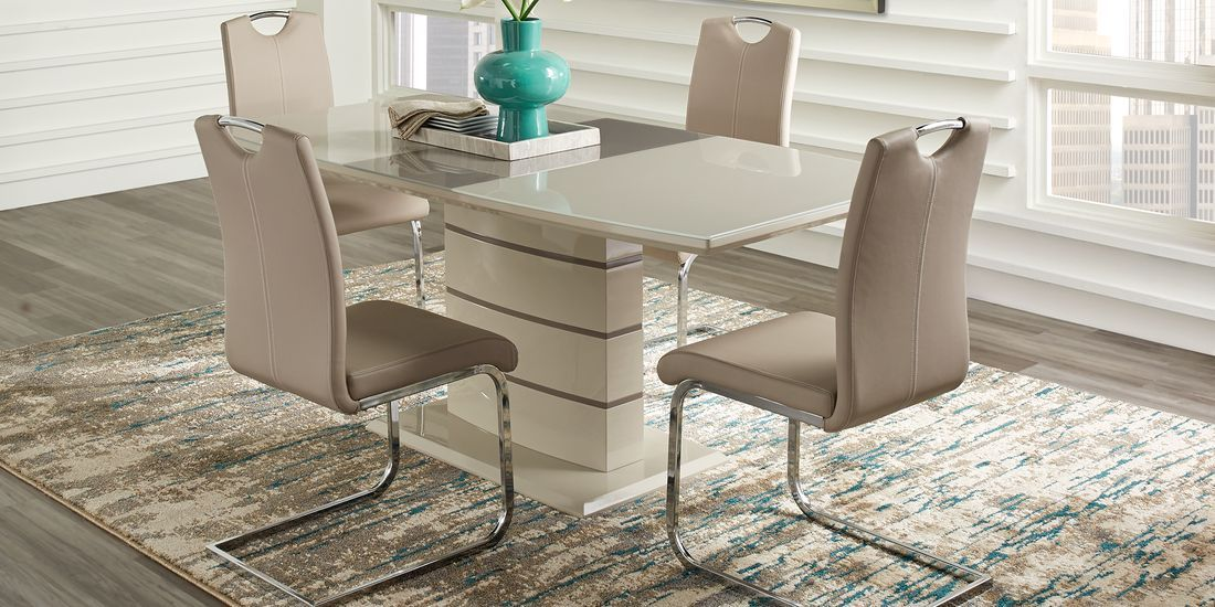 Bay Ridge Champagne 5 Pc Dining Room Rooms To Go Dining Room Sets Living Dining Room Dining Room