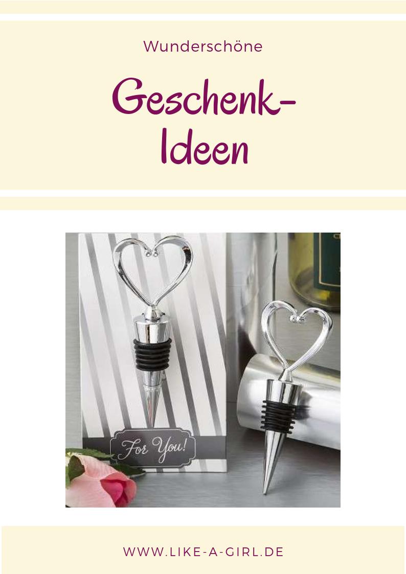 Flaschenstopfen Herz Silber Ein Romantisches Geschenk