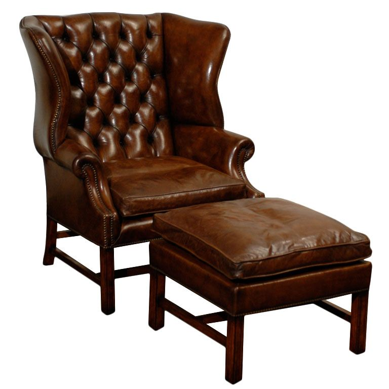 Owletts Tufted Wing Chair Wide 1stdibs Com Vintage Wingback