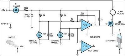 Pump controller for solar hot water system solar hot water pump controller for solar hot water system circuit diagram ccuart Image collections