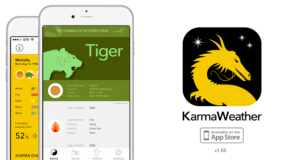 New version of Karmeather app released on the App Store