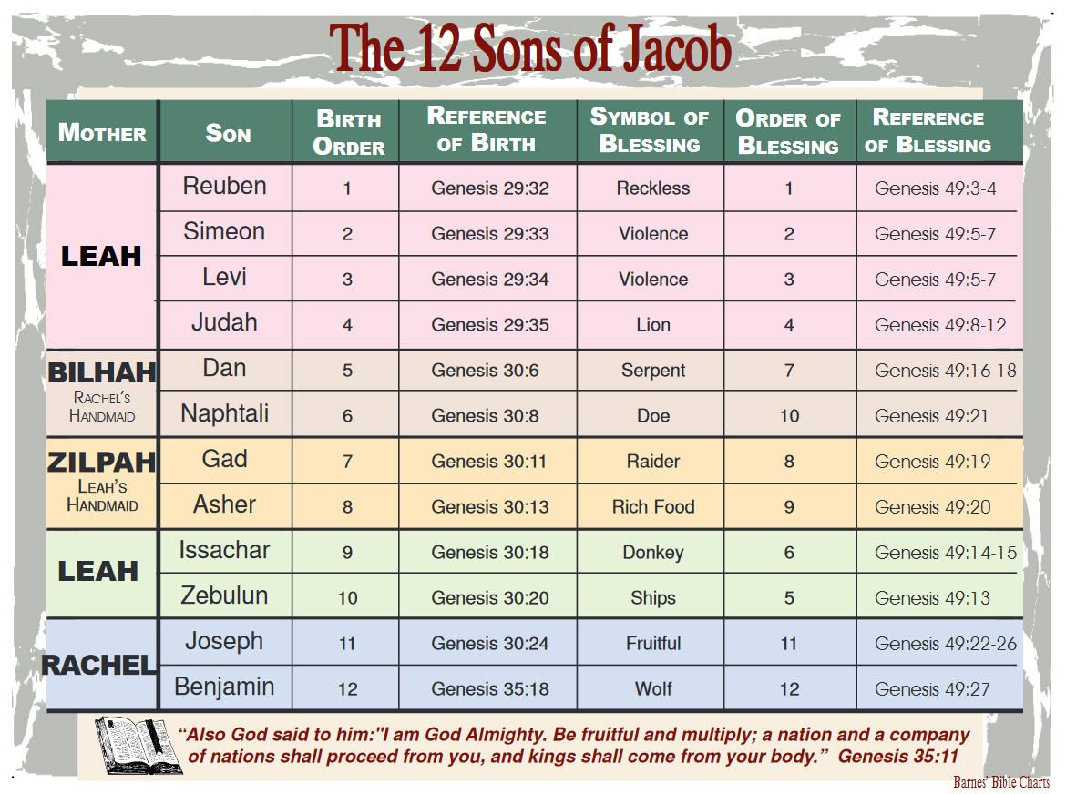 The 12 Sons Of Jacob