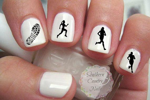 Sports Cross Country Running Nail Art Decals Running Pinterest