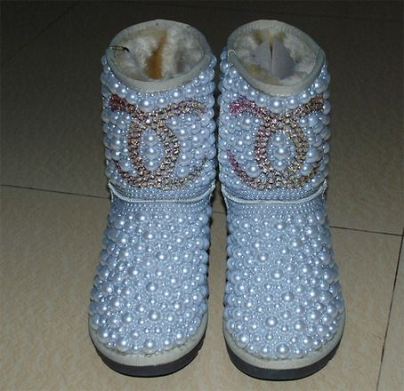 4bf73adc6c2 Swarovski pearls Chanel UGG Boots bling bling   My Uggs Swagg   Ugg ...