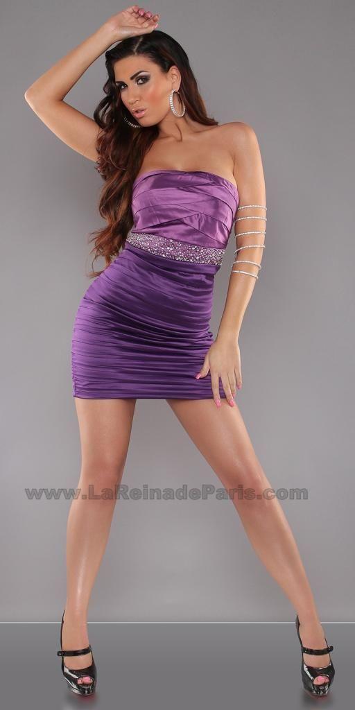 Vestido corto atractivo Olive Lila [1] | Vestidos | Pinterest ...