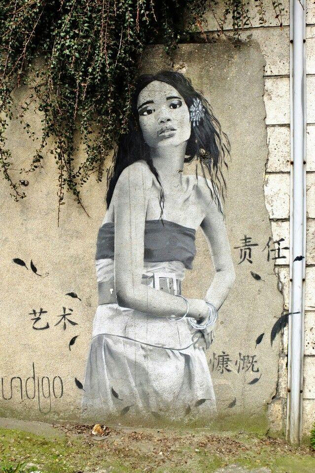 Vitry-sur-seine- av. Paul vaillant couturier - street art - indigo