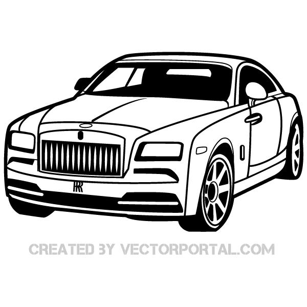 Rolls Royce Car Clip Art Image Free Vectors Rolls Royce Cars