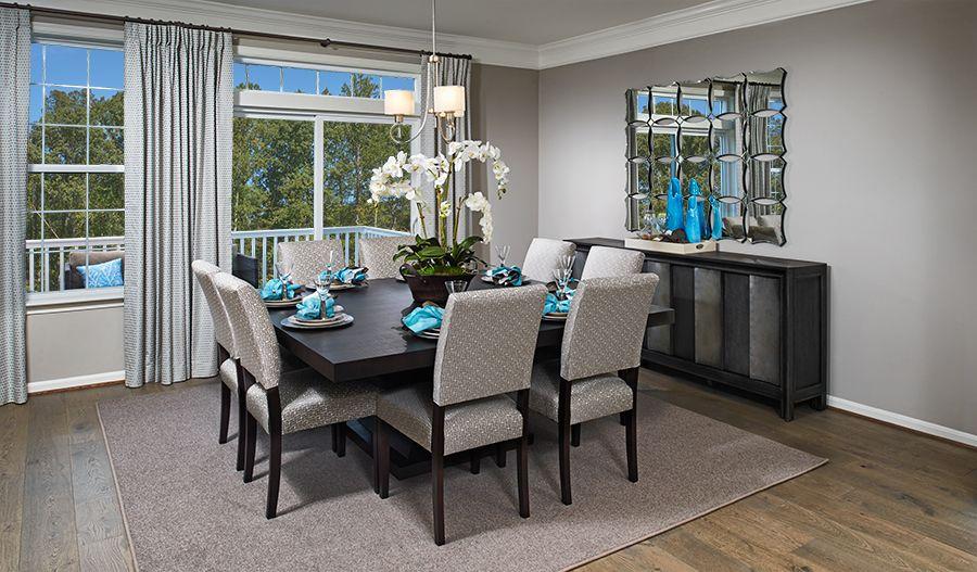 This Inviting Dining Room In Haymarket Va Features Wood Floors