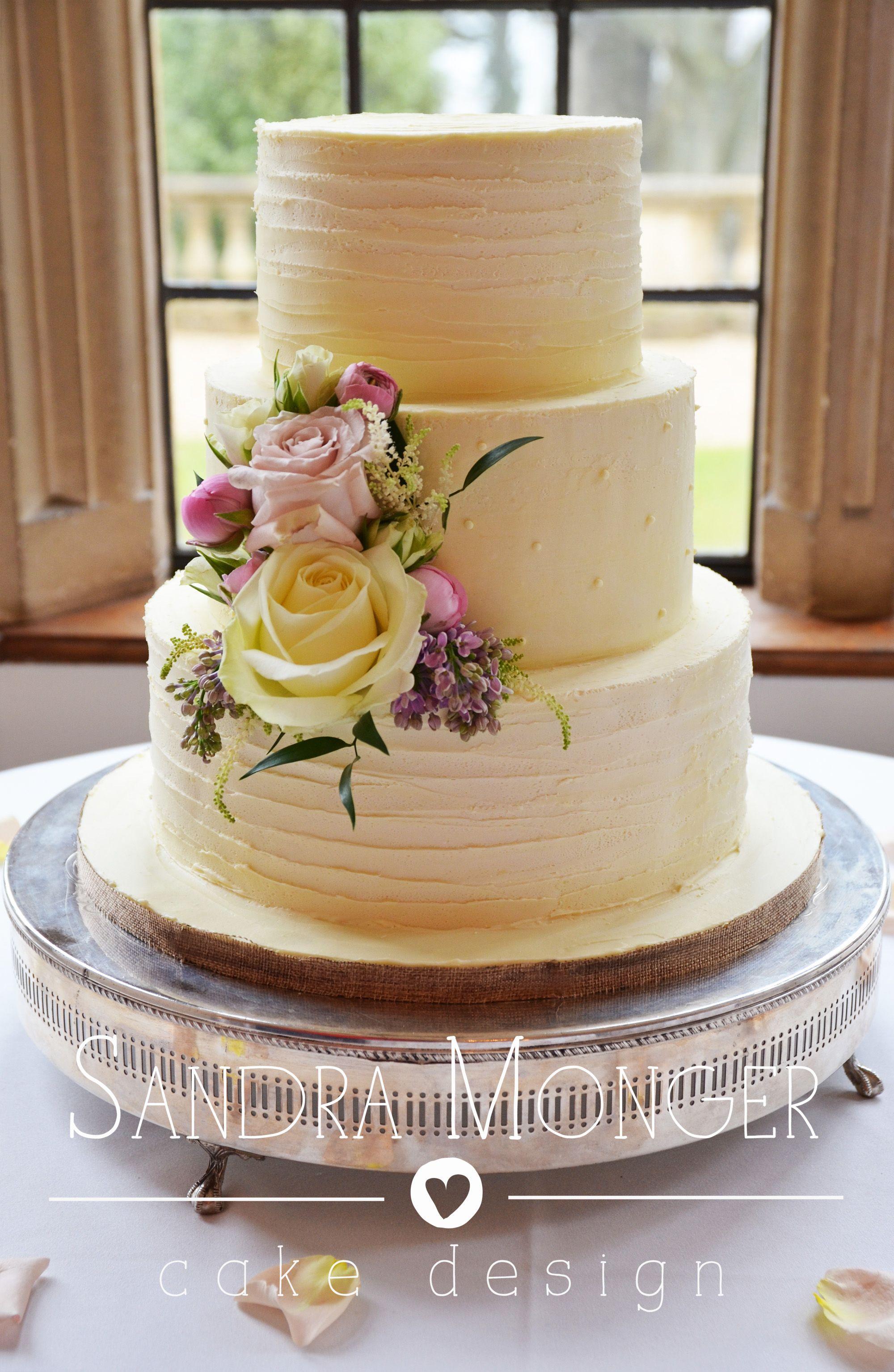 Rustic White Chocolate Ganache Wedding Cake Wedding Ideas