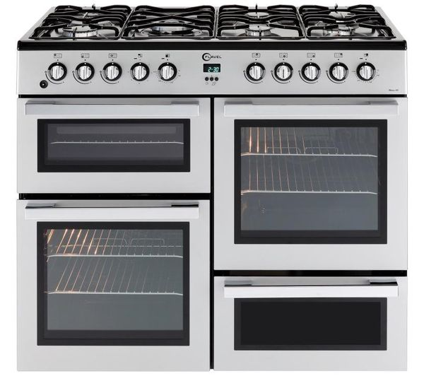 Flavel Mln10frs Dual Fuel Range Cooker Silver Chrome Range Cooker Dual Fuel Range Cookers Oven Design