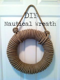 Diy Nautical Wreath Nautical Diy Nautical Wreath Rope