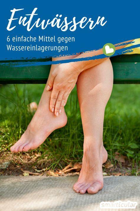 Schwere Beine? 6 Tipps, die beim Entwässern helfen