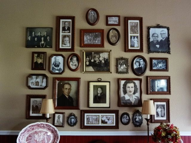 Bringing Out The Ancestors Family Photo Wall Family Pictures On Wall Decor