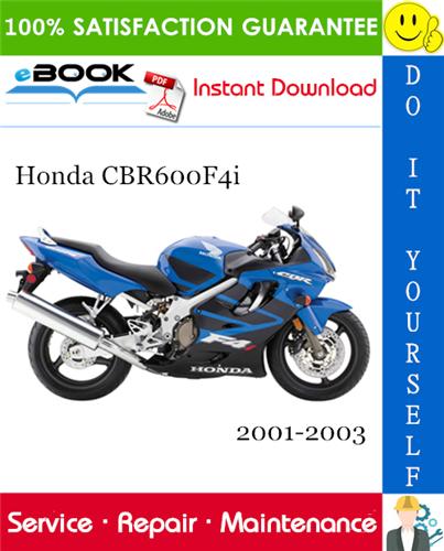 Honda Cbr600f4i Motorcycle Service Repair Manual 2001 2003 Download Repair Manuals Honda Motorcycle