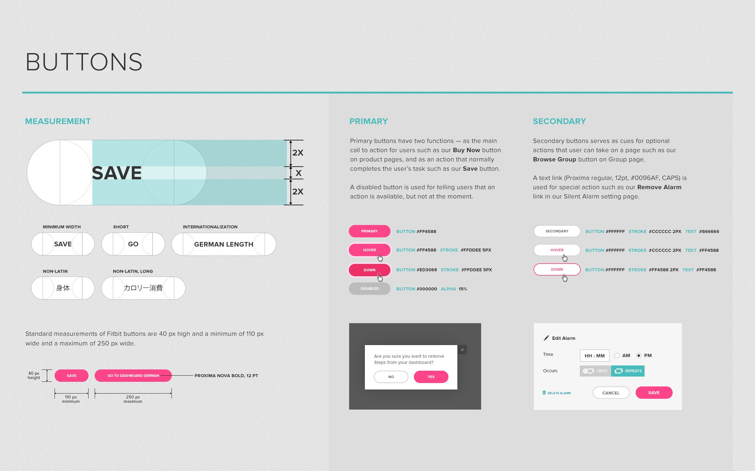 Dribbble Style Guide Button Jpg By Caroline Wiryadinata Style Guides Style Guide Design Web Design User Interface