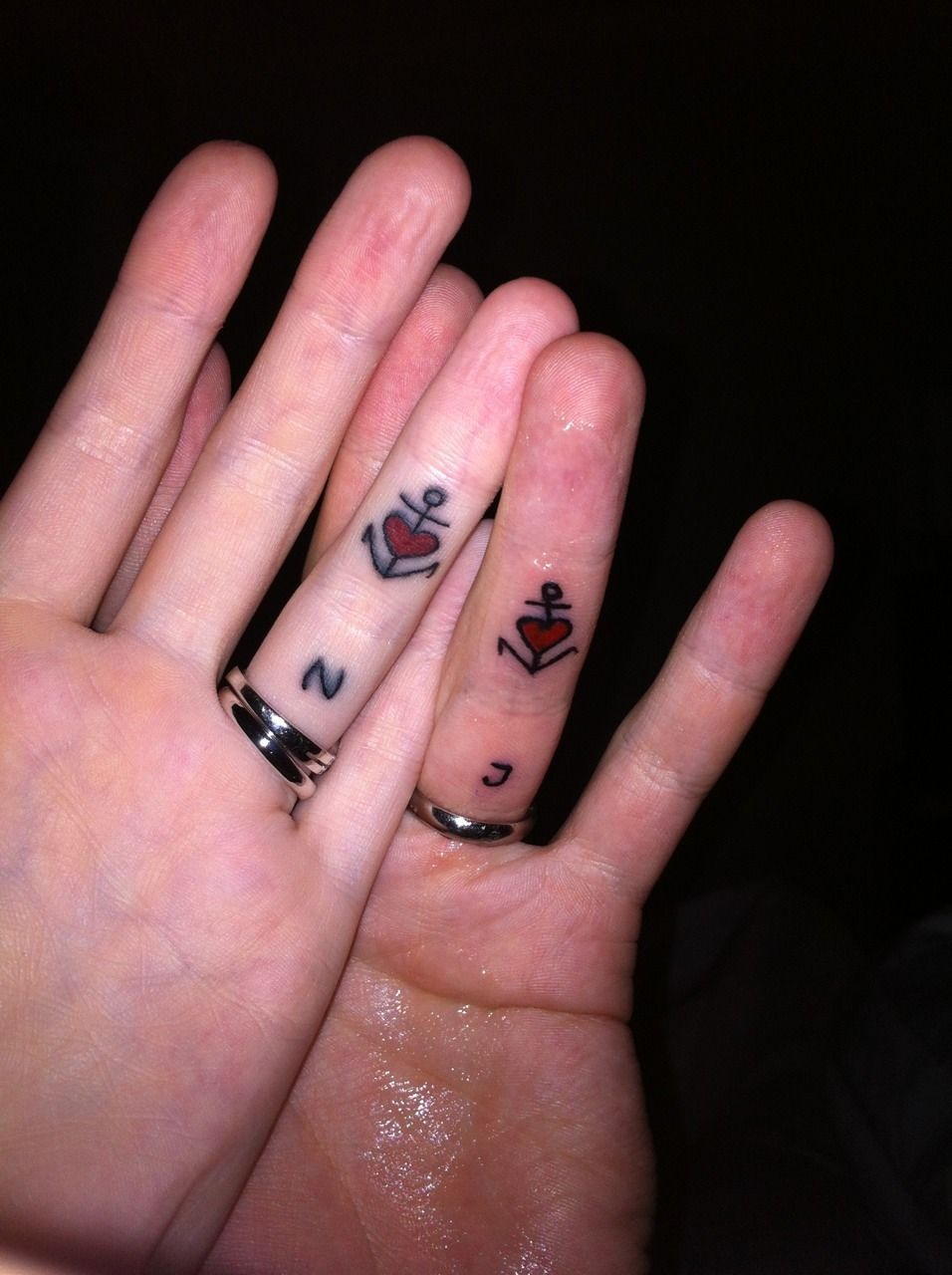 Cute anchors with heart + color | K and K tats | Pinterest | Tattoo ...