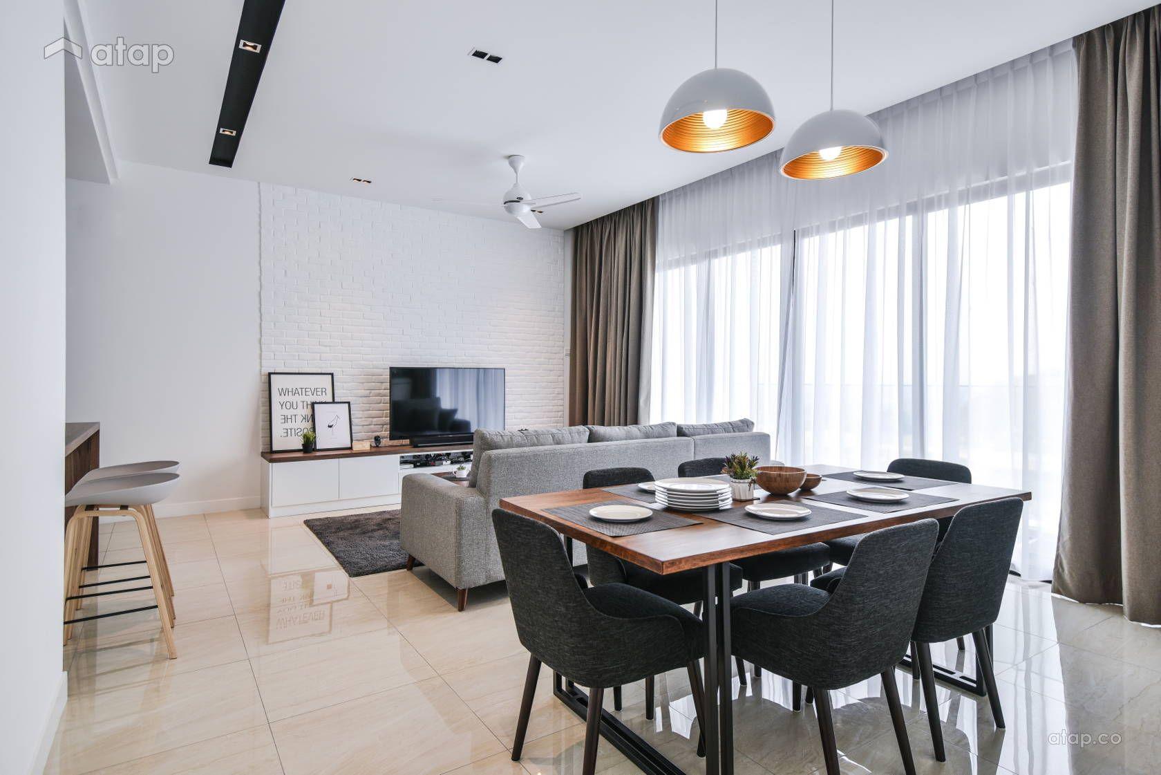 Minimalistic Modern Dining Room Condominium Design Ideas Photos