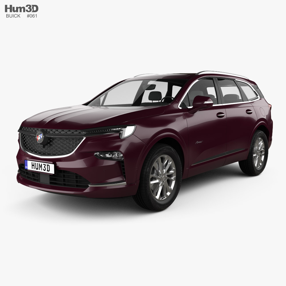 3d Model Of Buick Enclave Avenir Cn Spec 2019 In 2020 Buick Enclave Buick 3d Model