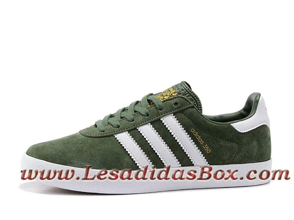 Adidas Originals Homme Chaussures 350 Spzl Vert/Blanc Officiel ...