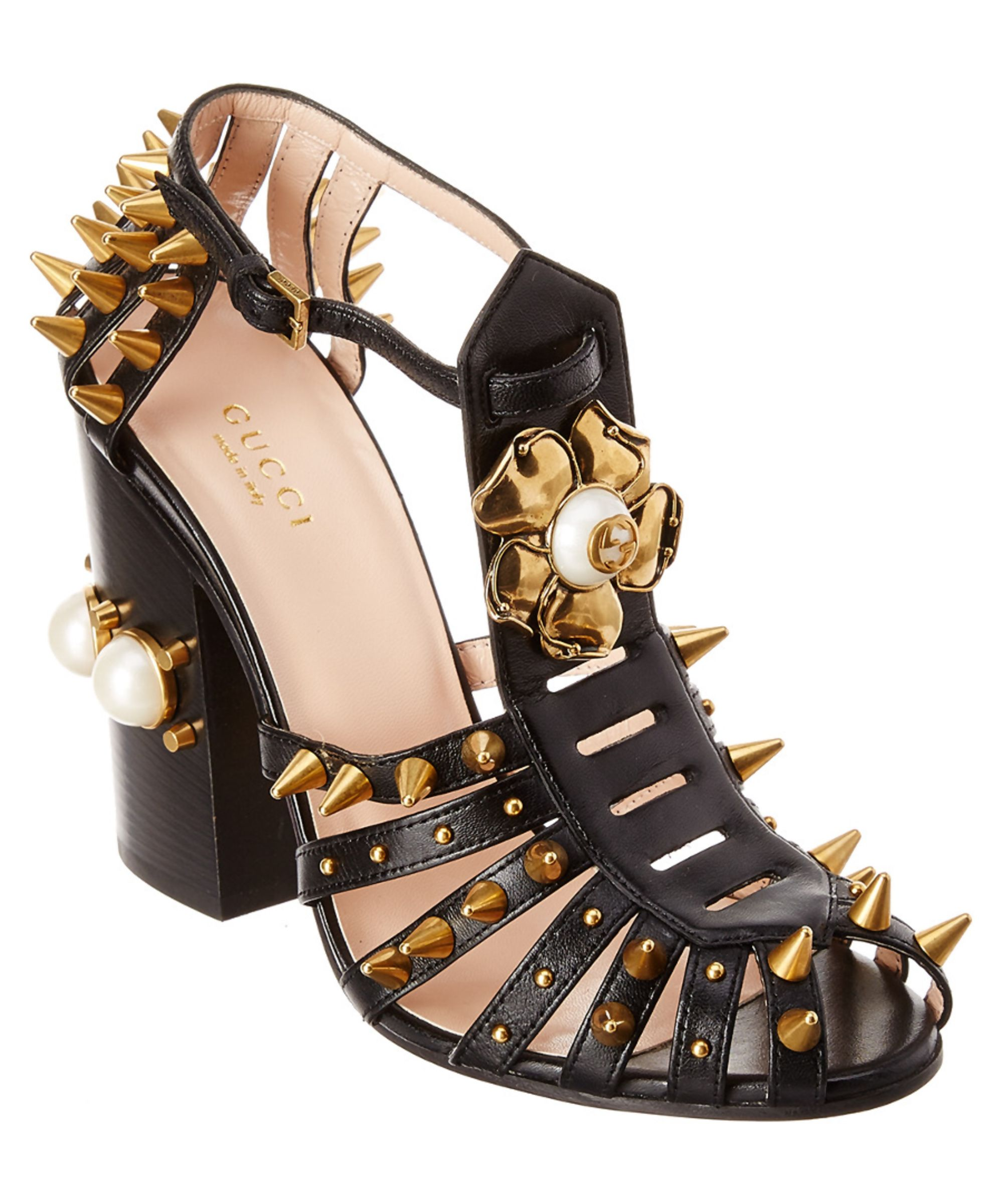 c13958c6b GUCCI | Gucci Kendall Studded Leather Sandal #Shoes #Sandals #GUCCI ...