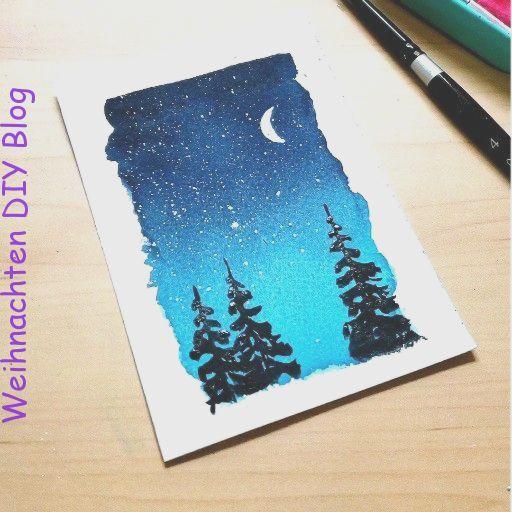 Unter Dem Mond Christmascreativecard Dem Mond Unter