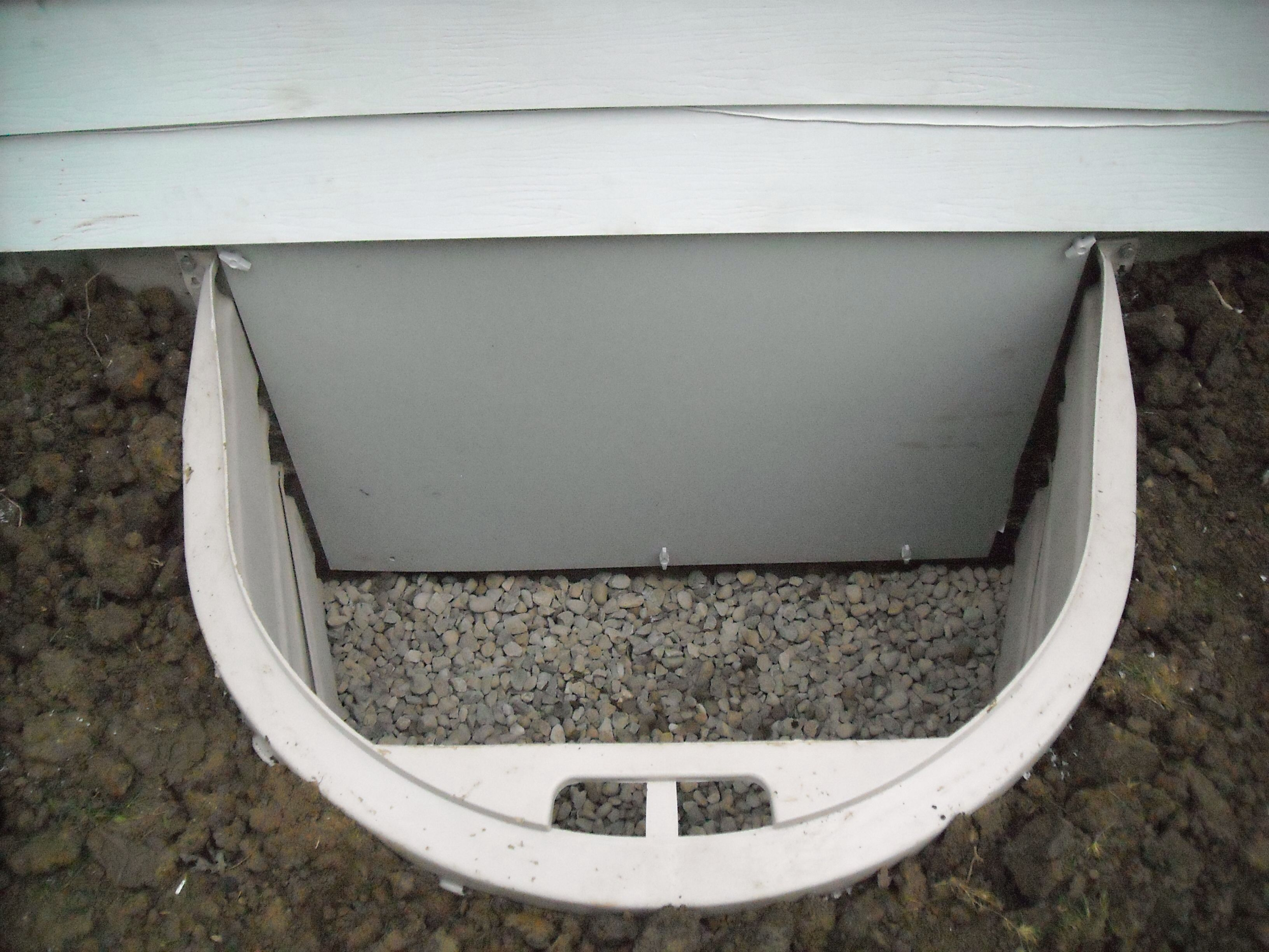 Crawl space entry well and weather tight door exterior for Exterior basement access doors
