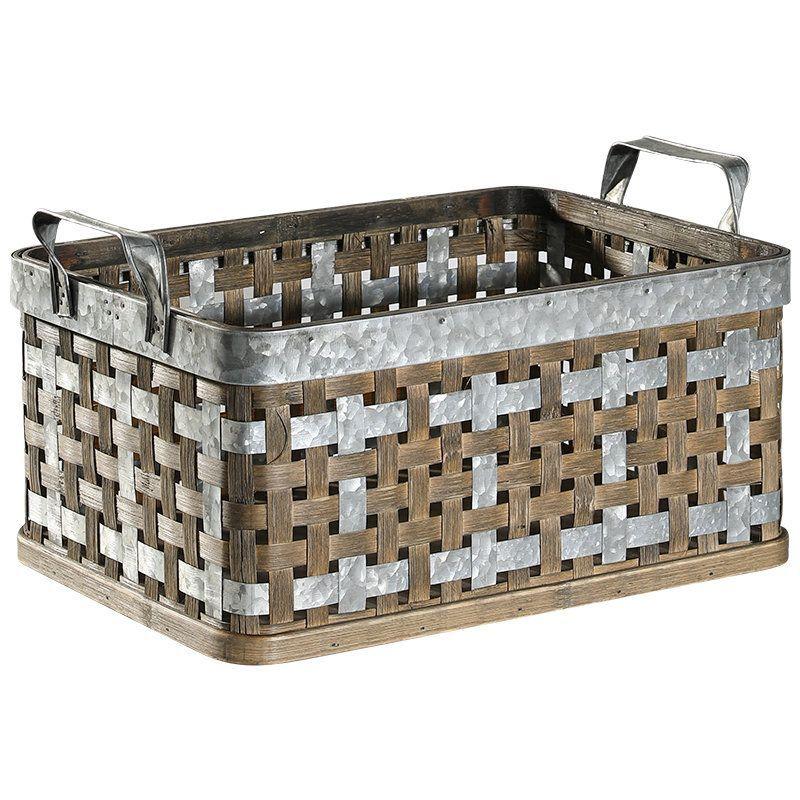 Vintage Hand Woven Cubic Bamboo Metal Storage Baskets Wholesales Bulk Laundry Basket Kitchen Storage Food Storage Grasshanghai In 2020 Laundry Basket Storage Baskets Kitchen Storage