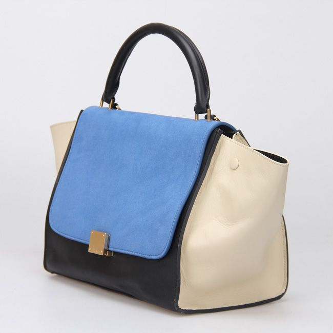 72d8998eff Celine Trapeze Bags in Blue Bordeaux
