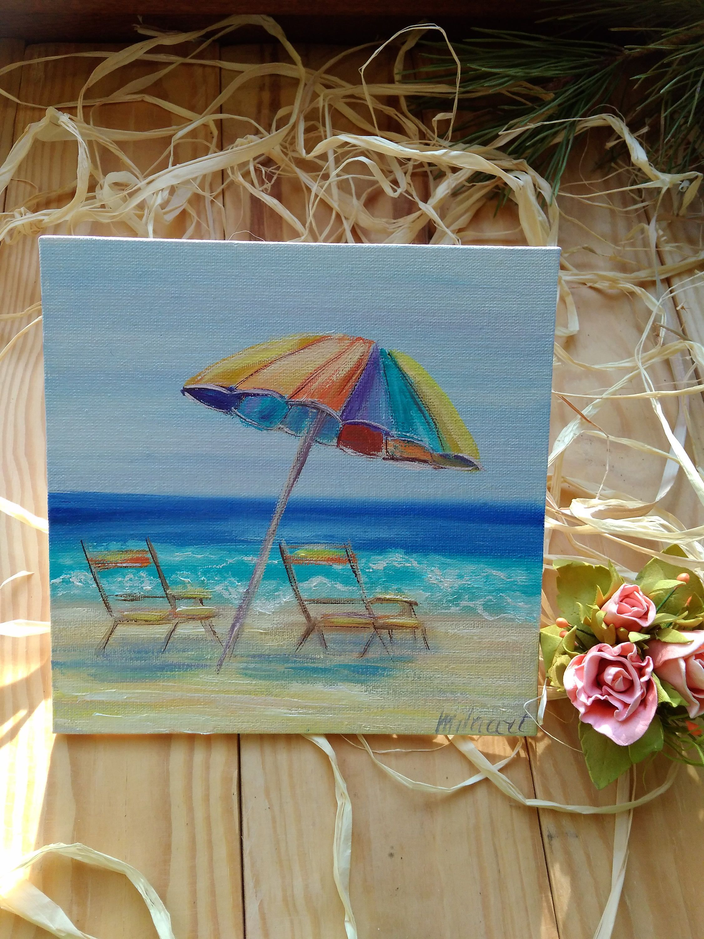 Oil Painting Canvas Mini Ocean
