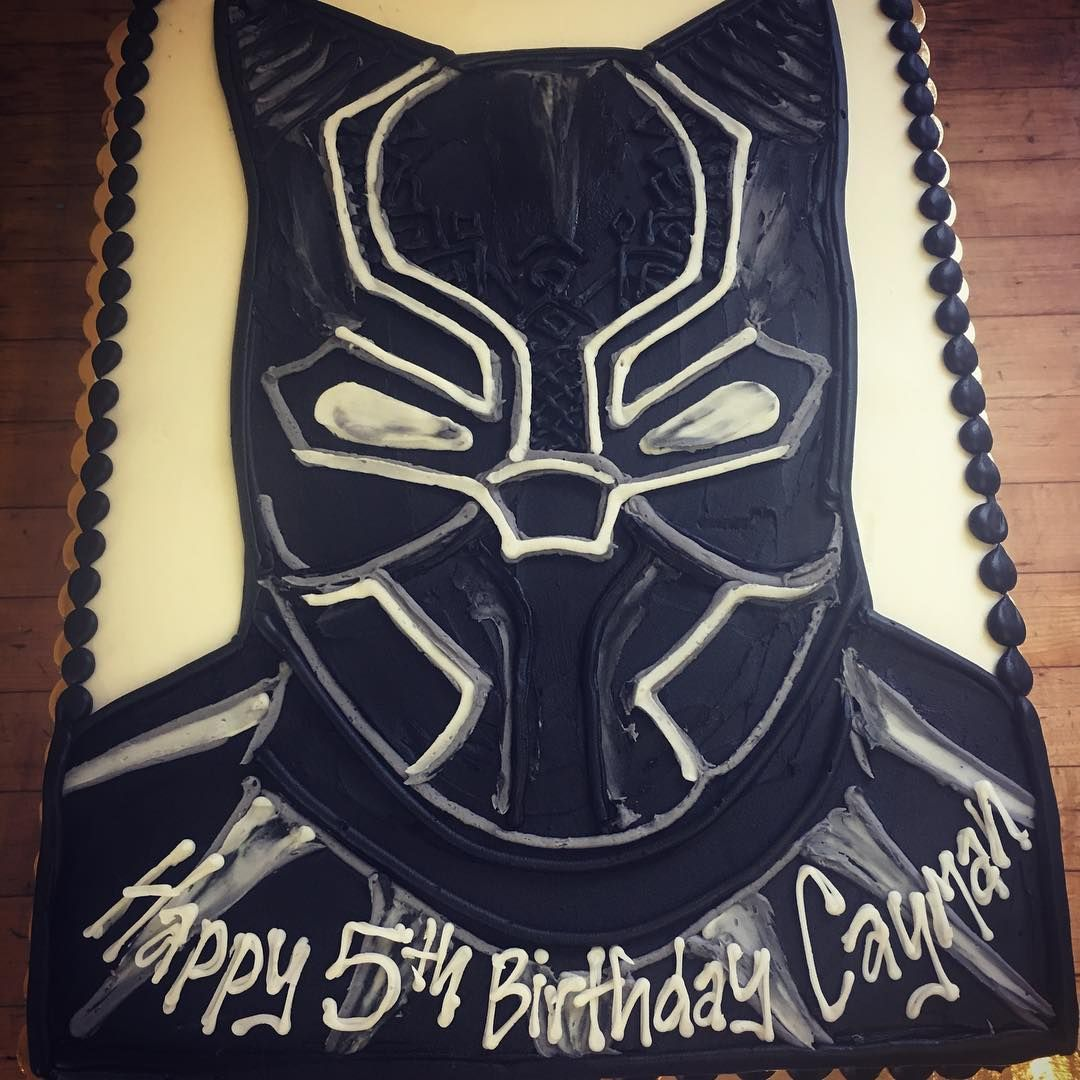 The Black Panther Buttercream Cake Black Panther Party Avenger