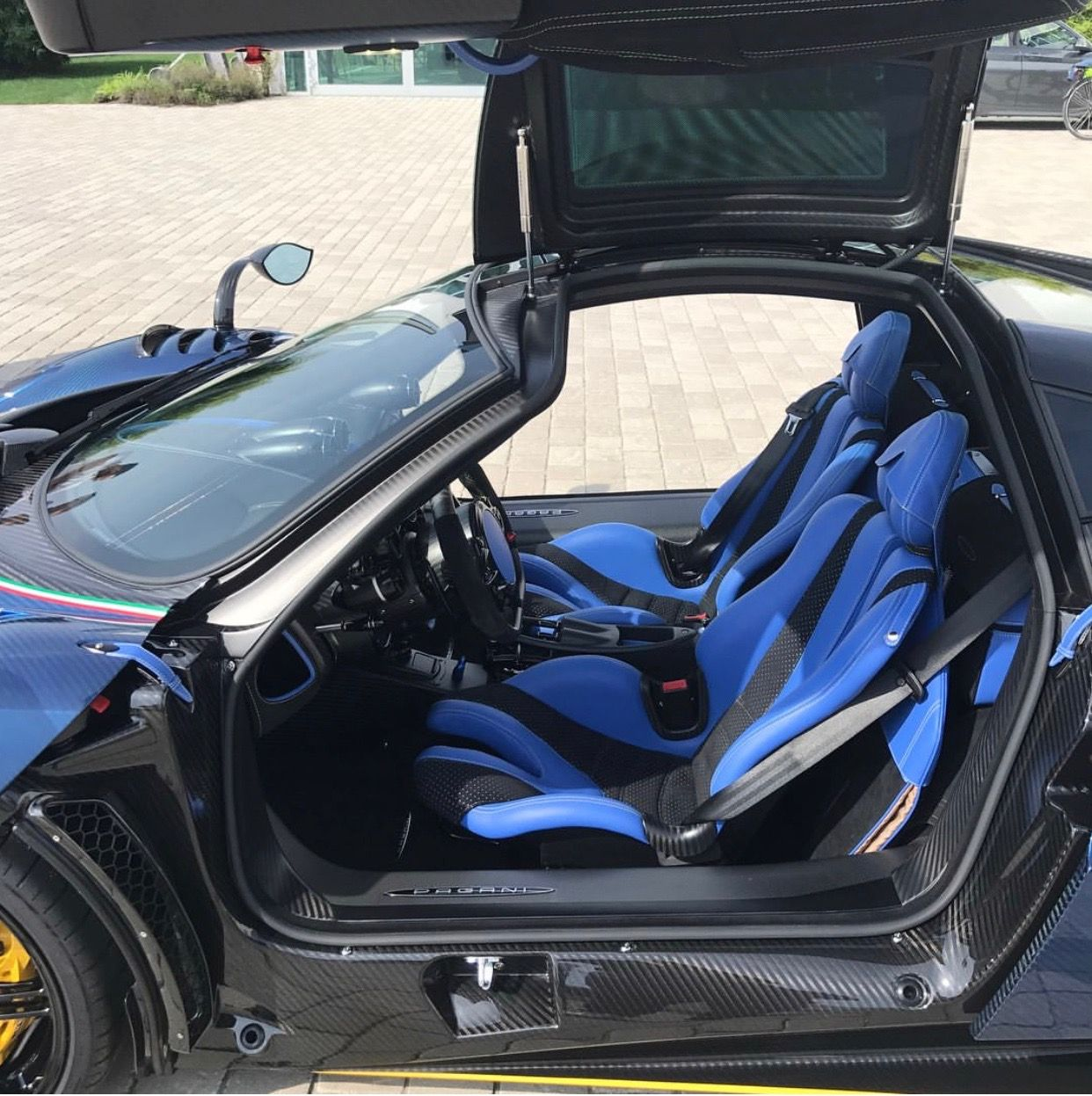 Interior Of The Pagani Huayra Bc Nerazzurra Made Out Of Exposed