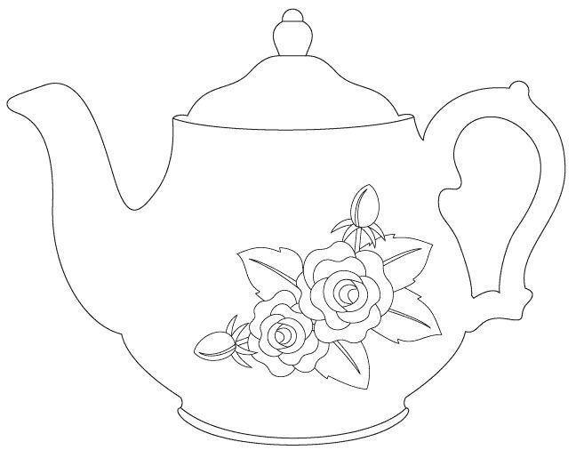 Pin by Ka Za on Tea set | Pinterest | Tea parties, Adult coloring ...