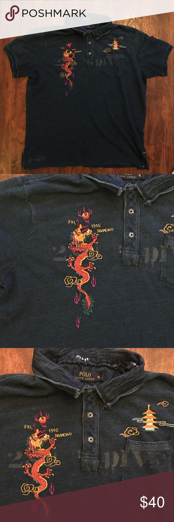 "Good Condition Sz Xl Shirt ""1946 Shanghai"" Used In Polo Ralph Lauren OPkn0w"