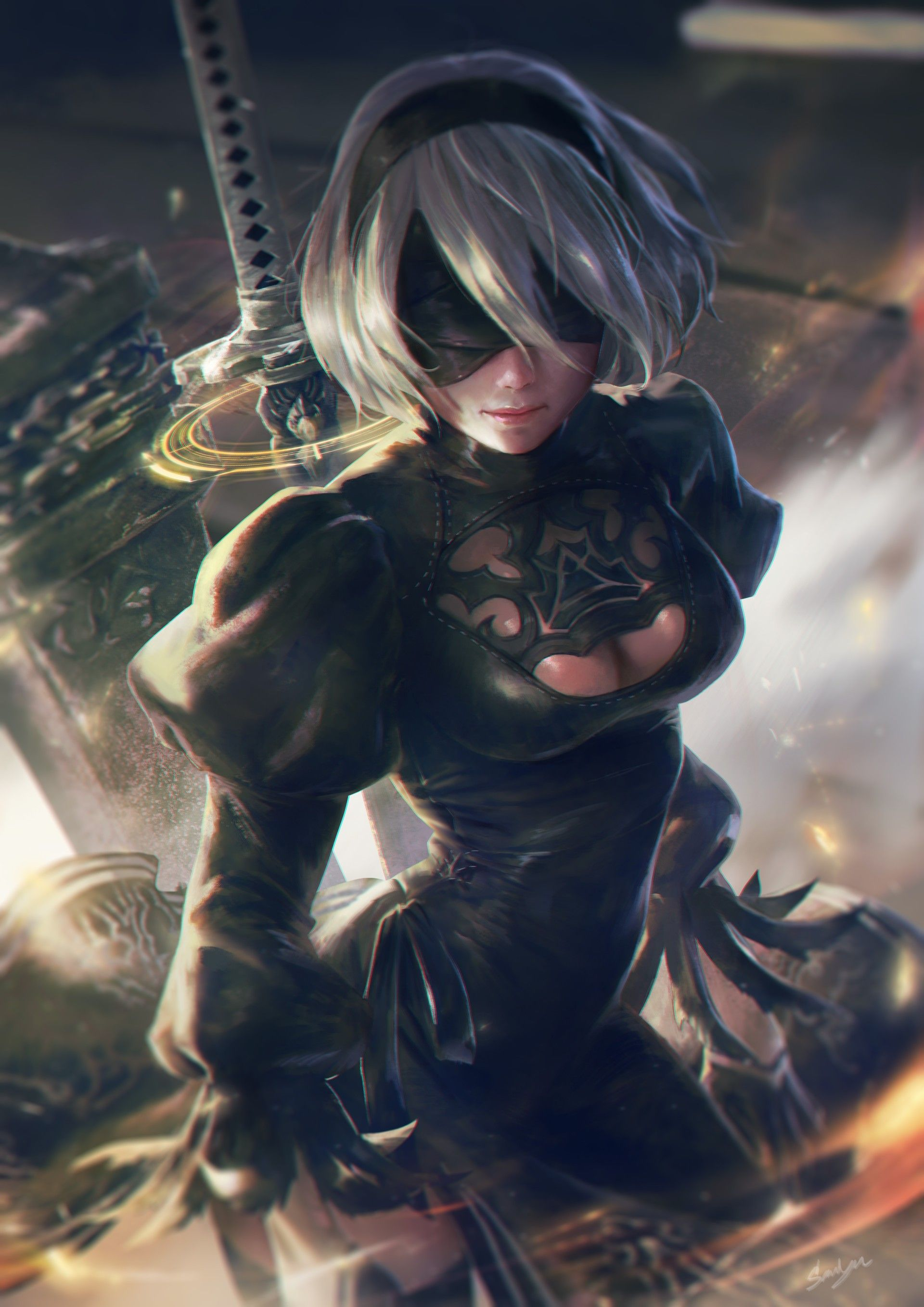 Premise Indicator Words: General 1920x2716 Nier: Automata 2B (Nier: Automata