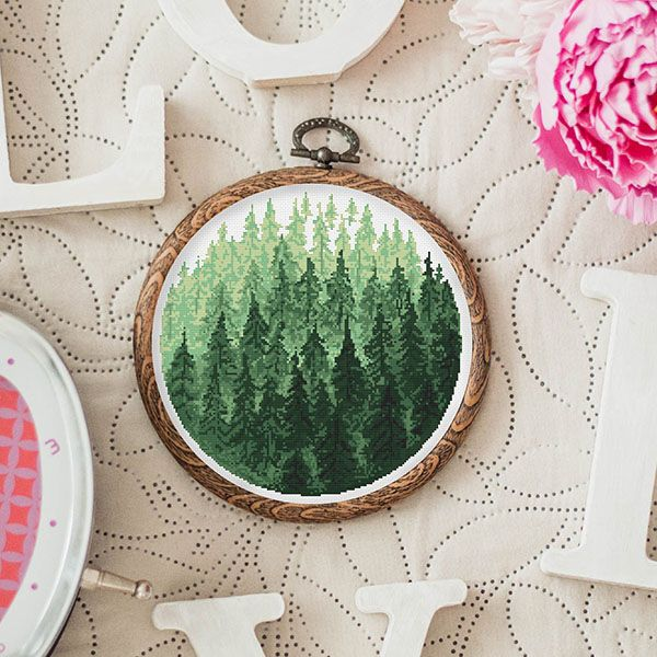 Embroidery patterns inspired by trees – Pumora