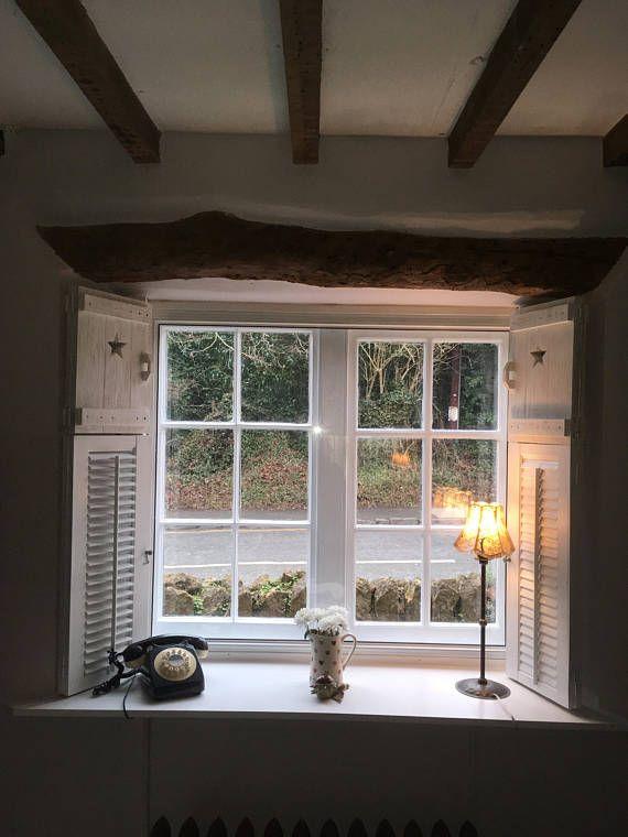Wooden window shutters french style window shutters vintage