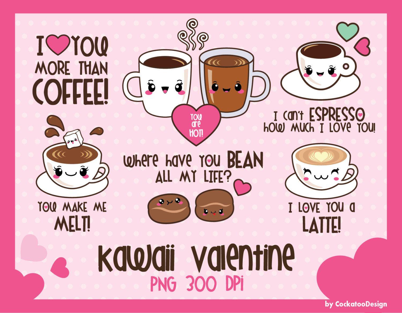 Valentine Clip Art Kawaii Clip Art Kawaii Clipart Kawaii Etsy Valentines Clip Valentines Day Clipart Kawaii Clipart