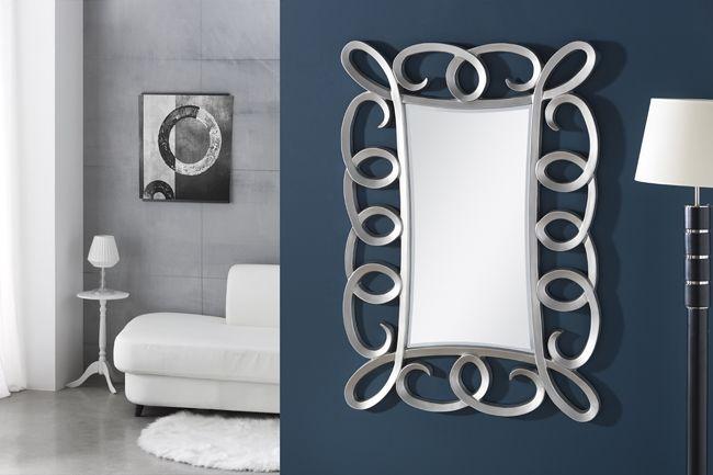 espejo plateado clasico espejos en pan de plata espejos para recibidores espejo nacarado en blanco espejos lacados blanco espejos en blanco - Espejos Plateados