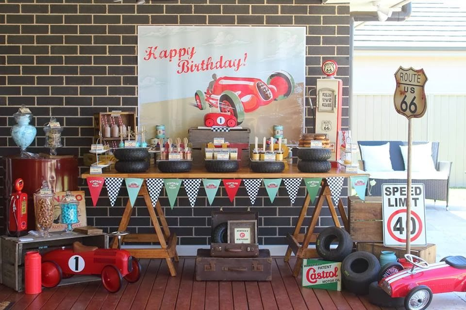 Vintage Car themed Dessert Table by Rainbow Lollipops Lollipop