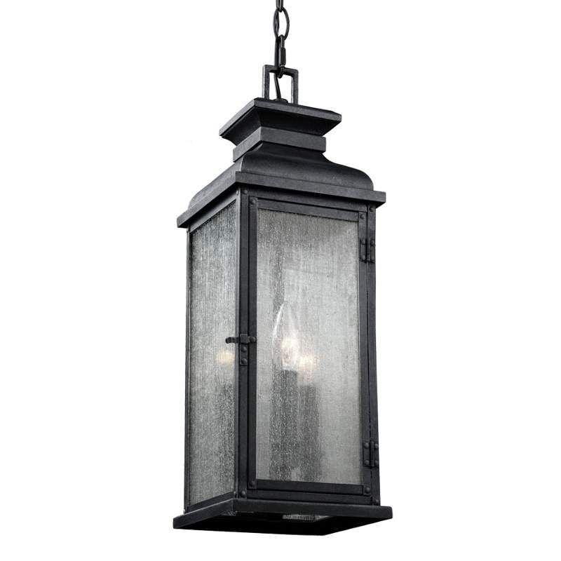 Murray Feiss OL11109 Pediment 2 Light Outdoor Small Pendant Dark Weathered  Zinc Outdoor Lighting Pendants