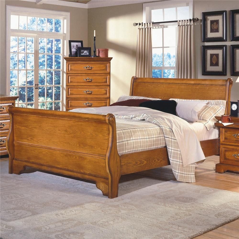 Honey Creek King Sleigh Bed by New Classic. Oak Bedroom FurnitureFurniture  ...