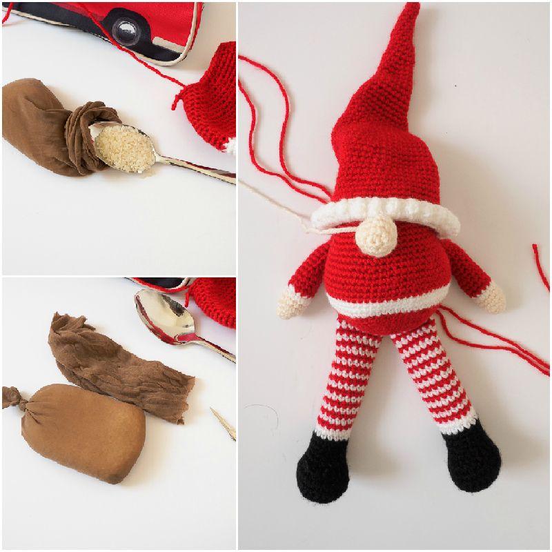 Scandinavian Santa Gnome Amigurumi   Árbol navidad, Relleno y ...