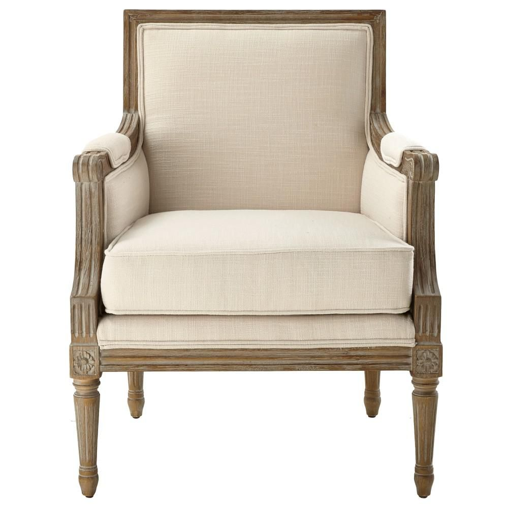 Home Decorators Collection Miria Carre Natural Upholstered Accent