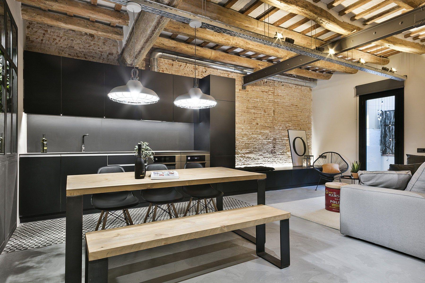 modernos reformas barcelona piso difano interiores espacios difanos diseo decoracion interiores decoracin pisos pequeos decoracin
