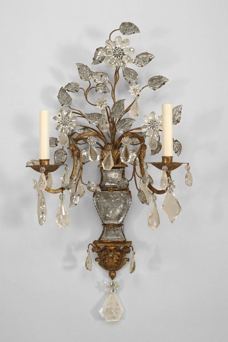 Art Deco French Lighting Sconces Crystal Crystal Sconce Sconces