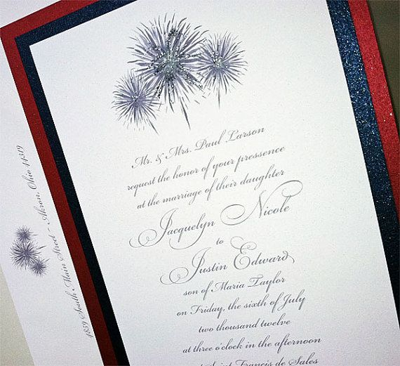 4th of july wedding invitations fourth of july by mospensstudio