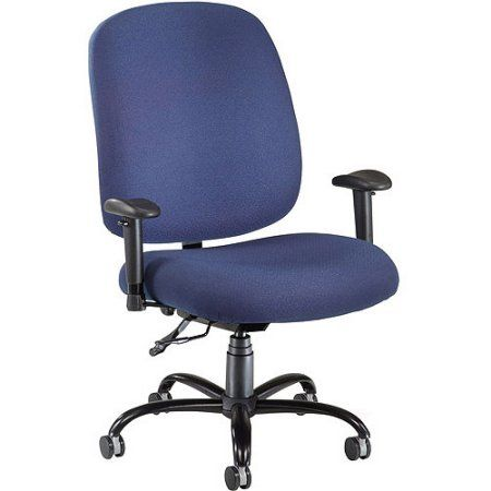 OFM Big and Tall Executive Task Chair with Arms, Blue