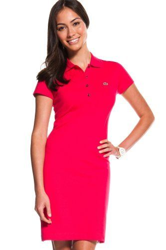 60075ccd0ab6f Lacoste Short Sleeve Stretch Pique Classic Polo Dress   Dresses ...