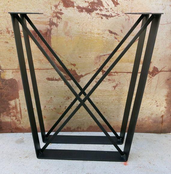 Metal Table Legs Flat Bar With X Brace